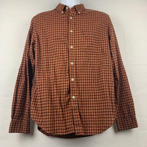 Eddie Bauer Relaxed Fit Plaid Size M Button Down